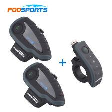 2 BT Interphone+Only 1 Remote Bluetooth Motorcycle Helmet Headset moto Intercom