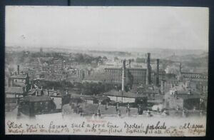 Yorkshire Postcard: Panoramic View of Brighouse. Posted 1903