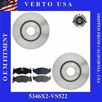 Front Brake Rotors Pads For Dodge ,Chrysler Plymouth 282 MM Disc Base on Chart