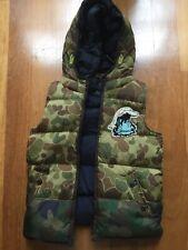 Scotch Shrunk Boys Sleeveless Reversible Camo/Navy Vest Size 10