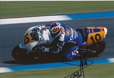 Sito Pons foto firmada de mano 12x8 Honda MotoGP 3.