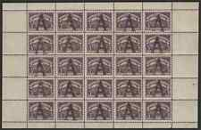 "Colombia/Germany SCADTA Consular 1923 ""A"" handstamp PANE of 25"