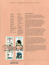 #0326 37c Football Heroes (4) #3808-3811 Souvenir Page