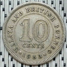 1953 - Malaya - 10 Cents Elizabeth II #CBPB