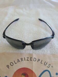 Maui Jim Sport Sunglasses MJ 407-02 64 17-130 Made in Japan w/Case & Cloth