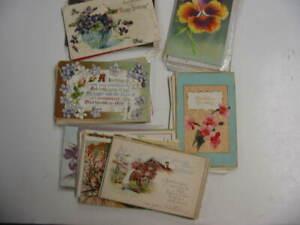 50 Older Birthday Postcard Lot 80