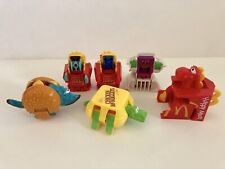 McDONALD'S HAPPY MEAL Lot 6 CHANGEABLES TRANSFORMERS ROBOTS & DINOSAURS 1987-90