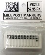 Tichy Trains HO/HOn3 Milepost Markers 50/pkg. (8246)