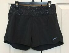 Women's Nike Revival Stretch Running Shorts Black And Gray XS 624603-014