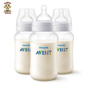 Avent Anti-Colic (NEW Classic Plus) Bottle 11 oz (330 ml), 3 pack, Authentic