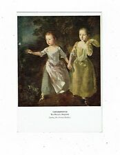 POST CARD THE PAINTER`S DAUGHTERS BY GAINSBOROUGH.