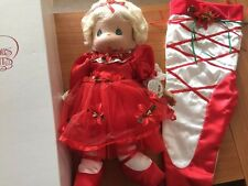 Precious Moments Stocking Doll 2010 Happy Holly-Day Ballet 18th Edition 8354