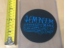 Hmnim Medium Sticker Decal Blue On Black Rare Hi My Name Is Mark Blink 182 New