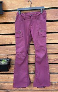 Burton Dry Ride Womens maroon snow pants Size S