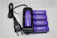 5 PILES ACCUS RECHARGEABLE 26650 8800mAh 3.7V Li-ion BATTERIE BATTERY + CHARGEUR