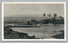 Hilo Bay RPPC Rare Antique Hawaii Photo RPPC-Sized Mauna Kea~1920s