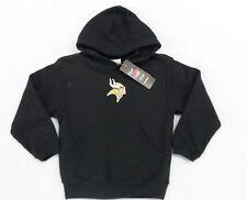 NFL Minnesota Vikings Childs Black Reebok Hooded Pullover Sweatshirt Size 4