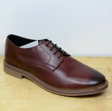 M&S Real LEATHER Rubber sole DERBY Lace Up SHOES ~ Size 9 ~ BROWN