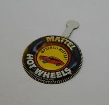 Redline Hotwheels Button Badge Metal Hong Kong Maserati Mistral R17316