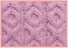 BB002 Knitting Pattern Hugs and Kisses Cable Pattern Baby Blanket in Aran Yarn