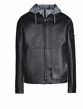 STONE ISLAND SHADOW PROJECT BOMBER JACKET LEATHER -HYPERLIGHT MEMBRANA-TC BNWT L