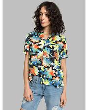 NEW QUIKSILVER™  Quiksilver Womens Fluid Short Sleeve Camp Shirt