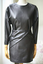 PEDRO DEL HIERRO BLACK LEATHER DRESS FR 36 UK 8