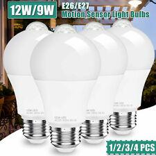 12W/9W (12W/90W Equivalent) Motion Sensor Bulb E27 Auto Energy Saving Light Bulb