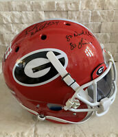 Herschel Walker Signed Authentic Georgia Bulldogs Helmet W/ Inscriptions-Beckett