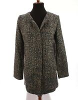 Talbots Womens Tweed Jacket Blazer Lagenlook Italy Blue Sz 10 Medium