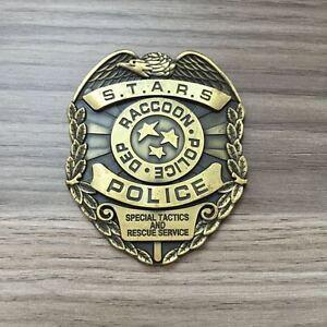 Resident Evil Biohazard s.t.a.r.s. Stars Raccoon Police Dep Badge