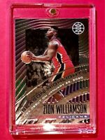Zion Williamson ROOKIE PANINI ILLUSIONS CHROME EMBOSSED SEASON HIGHLIGHTS RC!