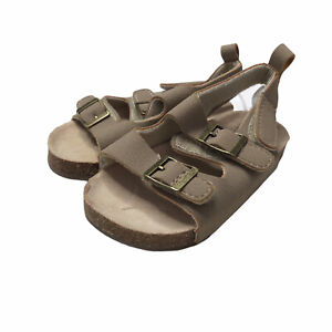 NWOT Carters Baby Sandals Casual Brown Tan Size 6-9 Months Beach Summer Open Toe