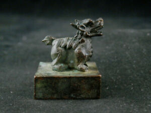 Excellent Antique Chinese Bronze Hand Made *Legendary Beast* Seal FF140