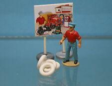 DO2 - Lot de 4 pneus blancs lisses 15/8 pour Dinky Toys SIMCA 9 ARONDE 24U
