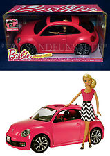 NEW - Barbie PINK VOLKSWAGEN BEETLE & DOLL SET - FULL SIZE Doors Open! VW BUG