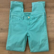 J Brand  Womens Jeans Skinny Mid Rise Brt Turquoise Size 27 Actual W28 L29 (BO6)