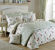 Country Journal Country Style Bedding Range Green Reversible Design