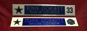 TONY DORSETT  NAME PLATE FOR HELMET / FOOTBALL/ CARD /JERSEY / PHOTO