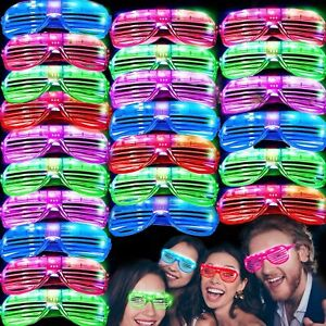 4/pk Light Up Party Sunglasses Glasses Glowing Eyes Led Shades