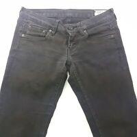 G-Star Raw 3301 Womens Jeans W27 L31 Black Slim Fit Skinny Low Rise