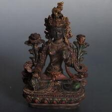 Auspicious White Tara Statue Lotus base! Tibetan Buddhism Liuli Prayer Altar
