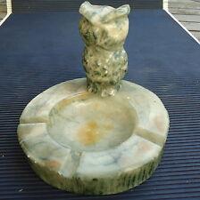 Chouette Cendrier Vide Poche Sculpture Marbre Fabriqué Main 14 x11 Cm - 933 Grs