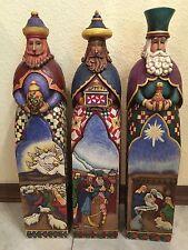 6 Pc. Jim Shore Nativity 20'' Wisewmen, Mary, Joseph, Shepherd Rare Hard 2 Find!