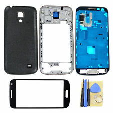 Black Back Housing Door Case Outer Glass Lens For Samsung Galaxy S4 Mini i9190