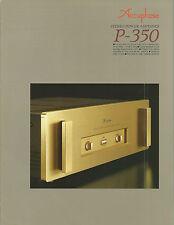 Accuphase p-350 Catalogo Prospetto Catalogue datasheet brochure