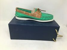 NEW! Sperry Topsider Women's Green Boat Shoes Size:9M #9125519 g4 a