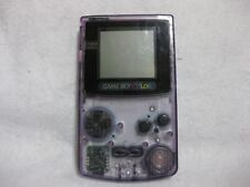 Game Boy Color Cler Purple Cgb 001 Nintendo Video Game Japan Gbc