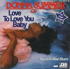 """7"""" Donna Summer – Love to Love You Baby // Germany 1975"""