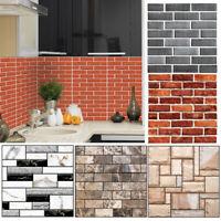 3D PVC Wall Stickers Brick Stone Rustic Effect Home Decor Self-adhesive Sticker